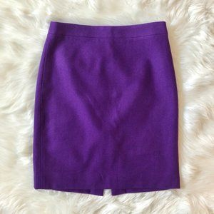 J. CREW The Pencil Skirt Purple Wool 4
